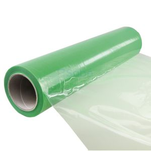 PE beschermfolie 50 cm x 100 mtr groen, zelfklevend