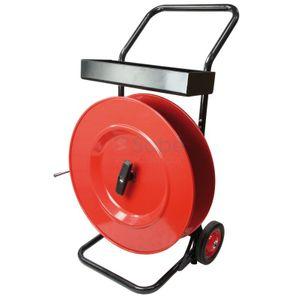 Haspel rood/zwart K406, Omsnoeringsband - PP /  PET / staalband