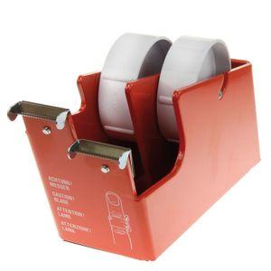 Tafeldispenser HEAVY DUO 2 x 25 mm plakbandautomaat rood