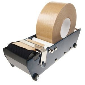 Plakband automaat voor gegommeerd papieren plakband