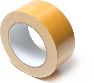 Dubbelzijdig tape 50 mm x 25 mtr wit