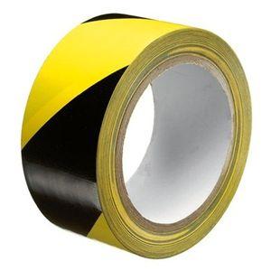 Markeringstape 50mmx33mtr geel / zwart