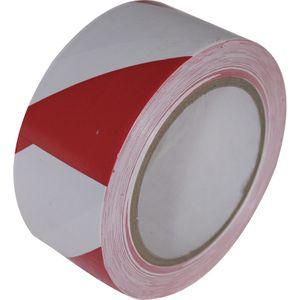Markeringstape 50mmx33mtr rood / wit