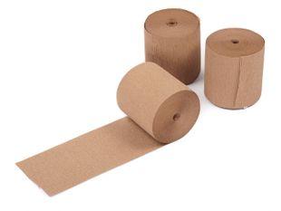 Natron Crepe papier handwikkelrollen 10 cm bruin 50/75gr/m²