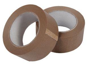 Papieren Plakband 50 mm x 50 mtr bruin zelfklevend